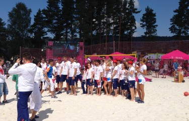 Arrival of the olympic competitors