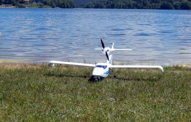 Flying over the Lipno