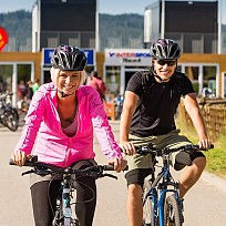 Bike trails at Lipno