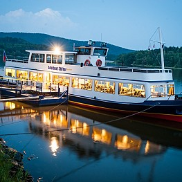 Sightseeing cruises on a steamboat