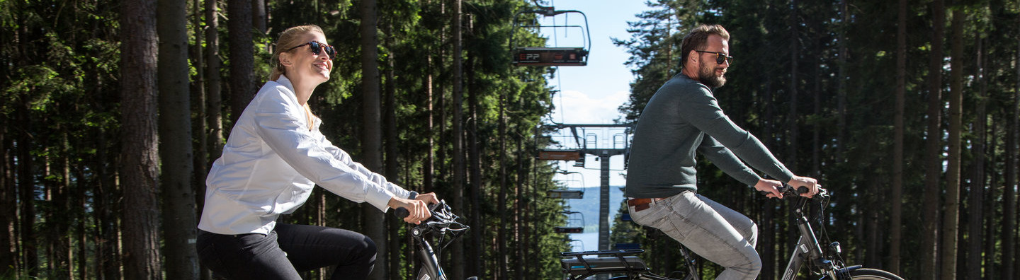 Around the Lipno region on an electric bike
