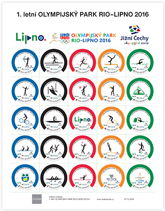 Sheets with stamps for the 1th summer Olympic Park – list A